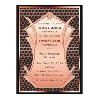 Heart & Soul - Copper  (Wedding Invitation) Card