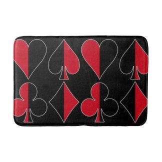 Heart Spade Diamond Club Bath Mat