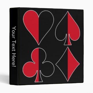 Heart Spade Diamond Club Binders