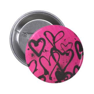 heart splatters 2 inch round button