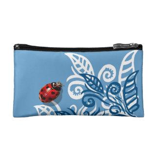 heart spotted ladybug blue leaf bag purse baggett