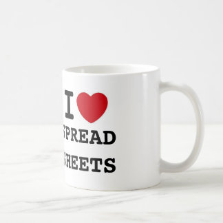 heart, SPREADSHEETS, I Coffee Mug