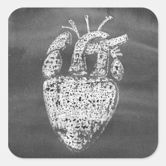Heart Square Sticker