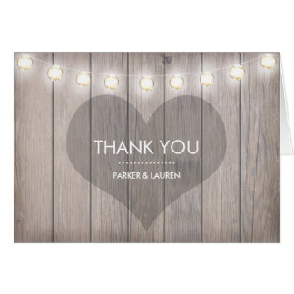 Heart Stained Thank You Note Card