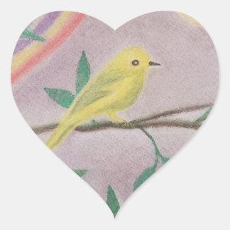 HEART STICKER bird