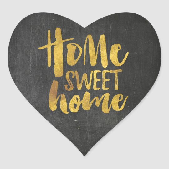 heart Sticker, home sweet home, chalkboard Heart Sticker
