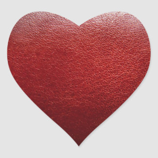 heart sticker leather
