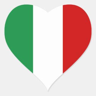 Heart Stickers Flag of Italy Italian il Tricolore