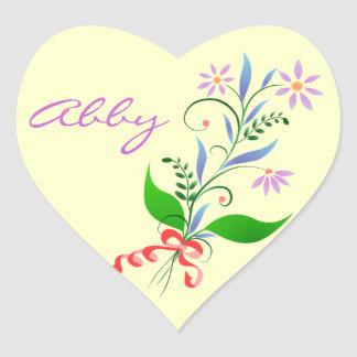 Heart Stickers for Abby