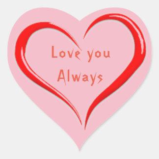 Heart Stickers, Glossy Heart Sticker