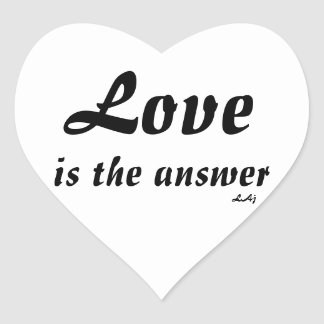 Heart Stickers, Love is the Answer Heart Sticker
