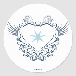 Heart stings classic round sticker