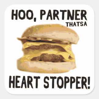Heart Stopper Square Sticker