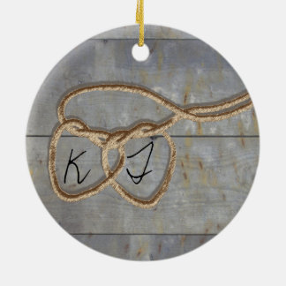 Heart Strings Ceramic Ornament