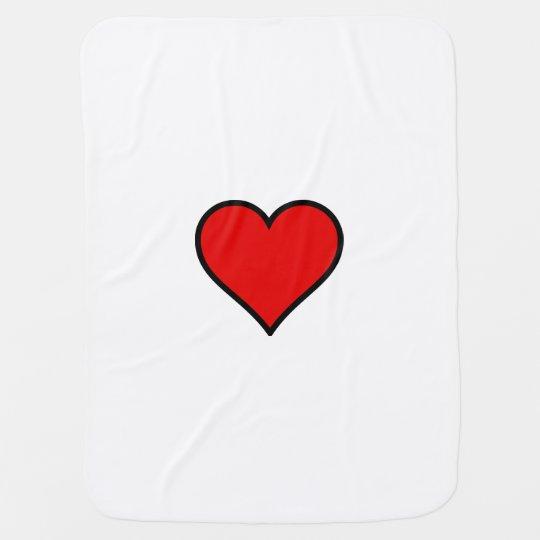 heart stroller blankets