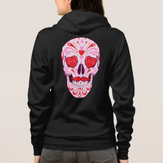 Heart Sugar Skull & Arrows Zip Hoodie