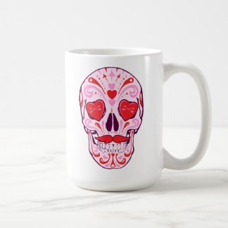 Heart Sugar Skull Coffee Mug