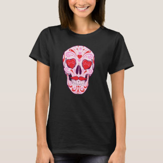 Heart Sugar Skull T-Shirt