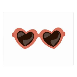 Heart Sunglasses Postcard