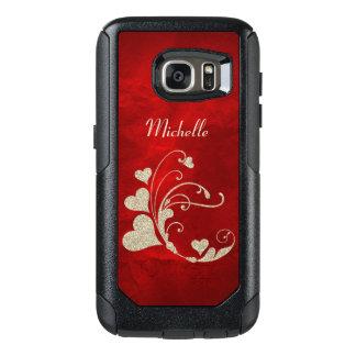 Heart Swirl Gold Faux Glitter OtterBox Samsung Galaxy S7 Case