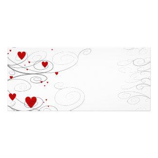 Heart Swirls Rack Card