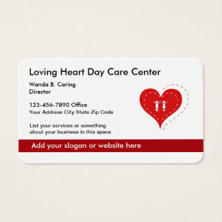 Heart Symbol Day Care Center And Family Services Business Card
