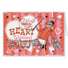 Heart Tamer Retro Valentine Card