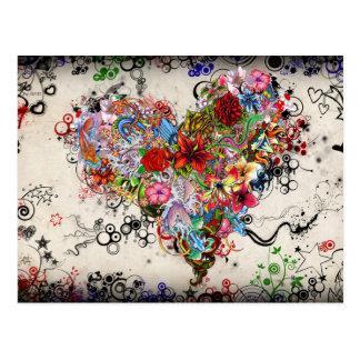 Heart Tattoo Art Postcard