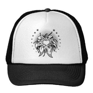 heart tattoo mesh hat