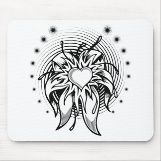 heart tattoo mouse pad