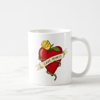 heart tattoo sulks basic white mug