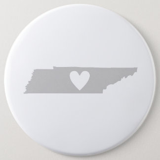 Heart Tennessee state silhouette 6 Inch Round Button