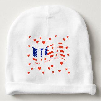 HEART THE USA BABY BEANIE