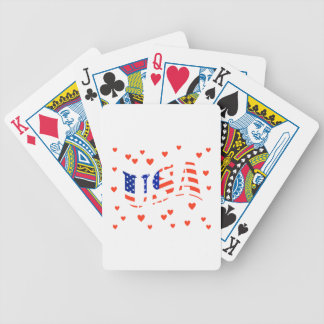 HEART THE USA PLAYING CARDS