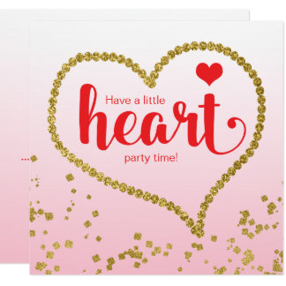 Heart Theme Family Reunion Birthday Party Card