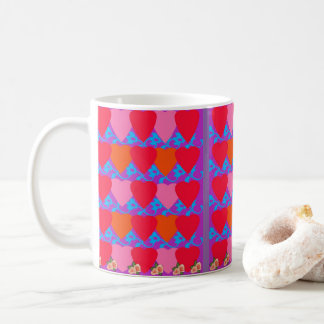 Heart-Themed Coffee Mug