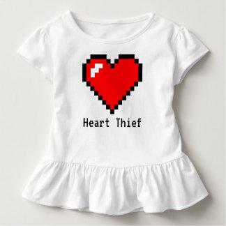Heart Thief 8 Bit Pixel Art - Funny Geeky Gamer Toddler T-shirt