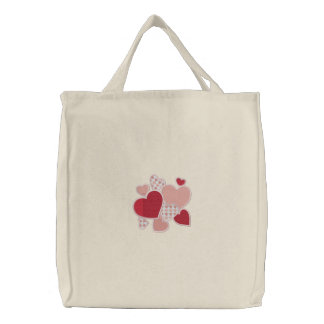 Heart to Heart Embroidered Bag