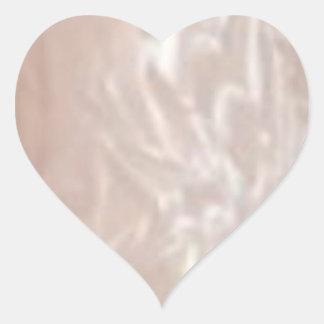 HEART to HEART  - Silver Silken Heart Sticker