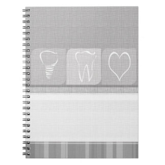 Heart Tooth Linen Implant Dentist Gifts Notebook