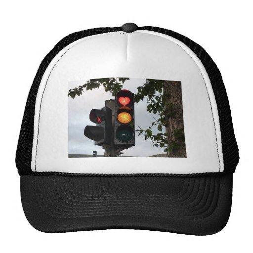 Heart traffic light hat