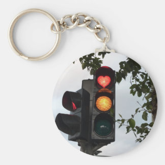 Heart traffic light keychain