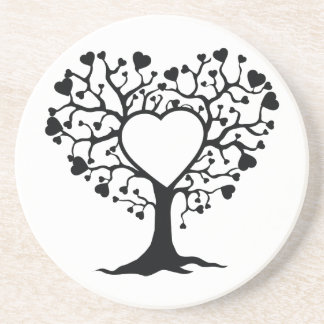 Heart Tree Beverage Coaster