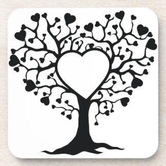 Heart Tree Coasters