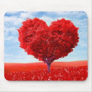 Heart Tree Valentine Mouse Pad