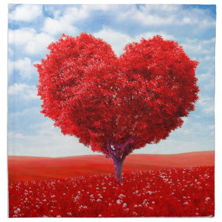 Heart Tree Valentine Napkin