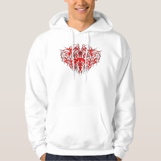 Heart Tribal Tattoo - red Hoodie