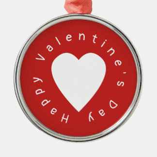Heart Valentine's Day Metal Ornament