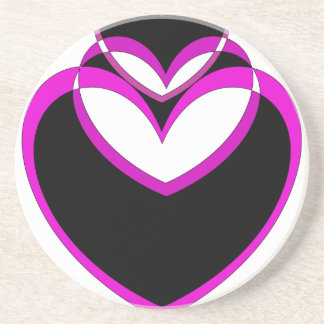 Heart Valentines Popart Hearts Purple Drink Coasters