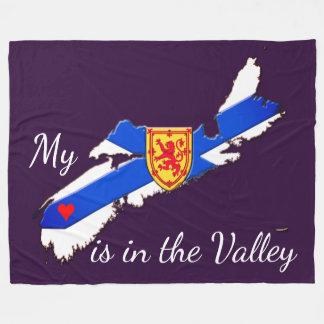Heart  Valley Nova Scotia Fleece Blanket(3 sizes )